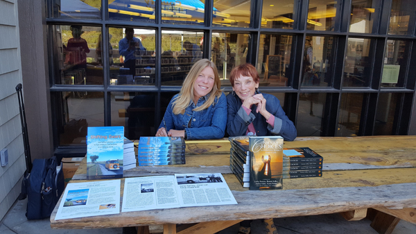 Author Mimi Roberts and friend
