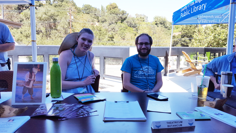 Will Geer's Theatricum Botanicum company members Clare and Jordan represented Topanga's own professional Equity Theatre.