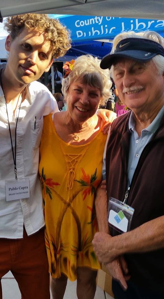 Publisher and poet Pablo Capra and authors Linda Ballou and Bernard Selling