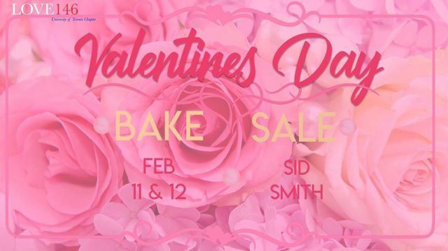 Love146 is hosting our annual Valentine's Day Bake Sale! Come visit us in the Sid Smith lobby on February 11th from 10am-4pm, and on February 12th from 1pm-4pm for some delicious baked goods! All funds go towards the fight to end human trafficking and exploitation so we hope to see you all there!
