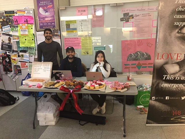 Our bake sale is happening right now at SS! We'll be here until 4pm so come visit us for some baked goods!