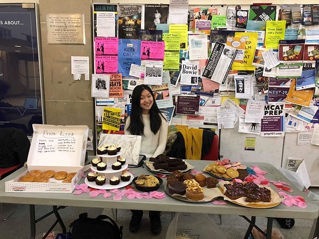 Our bake sale is still going on today despite the snowstorm ❄️ we're here until 4pm!