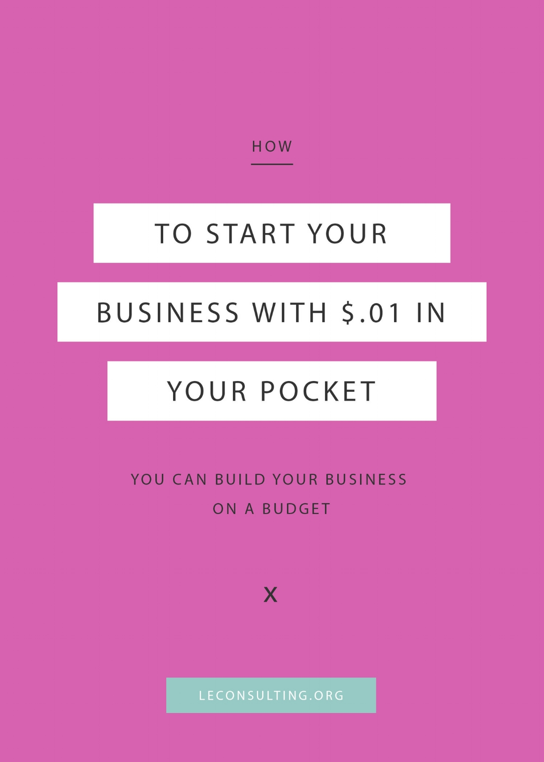 With all the pricey programs and courses out there, starting your own creative business can seem a little daunting and costly! But don't let the price tag deter you. Click through to read how you can jump start your entrepreneurship journey while on a budget. | LE Consulting
