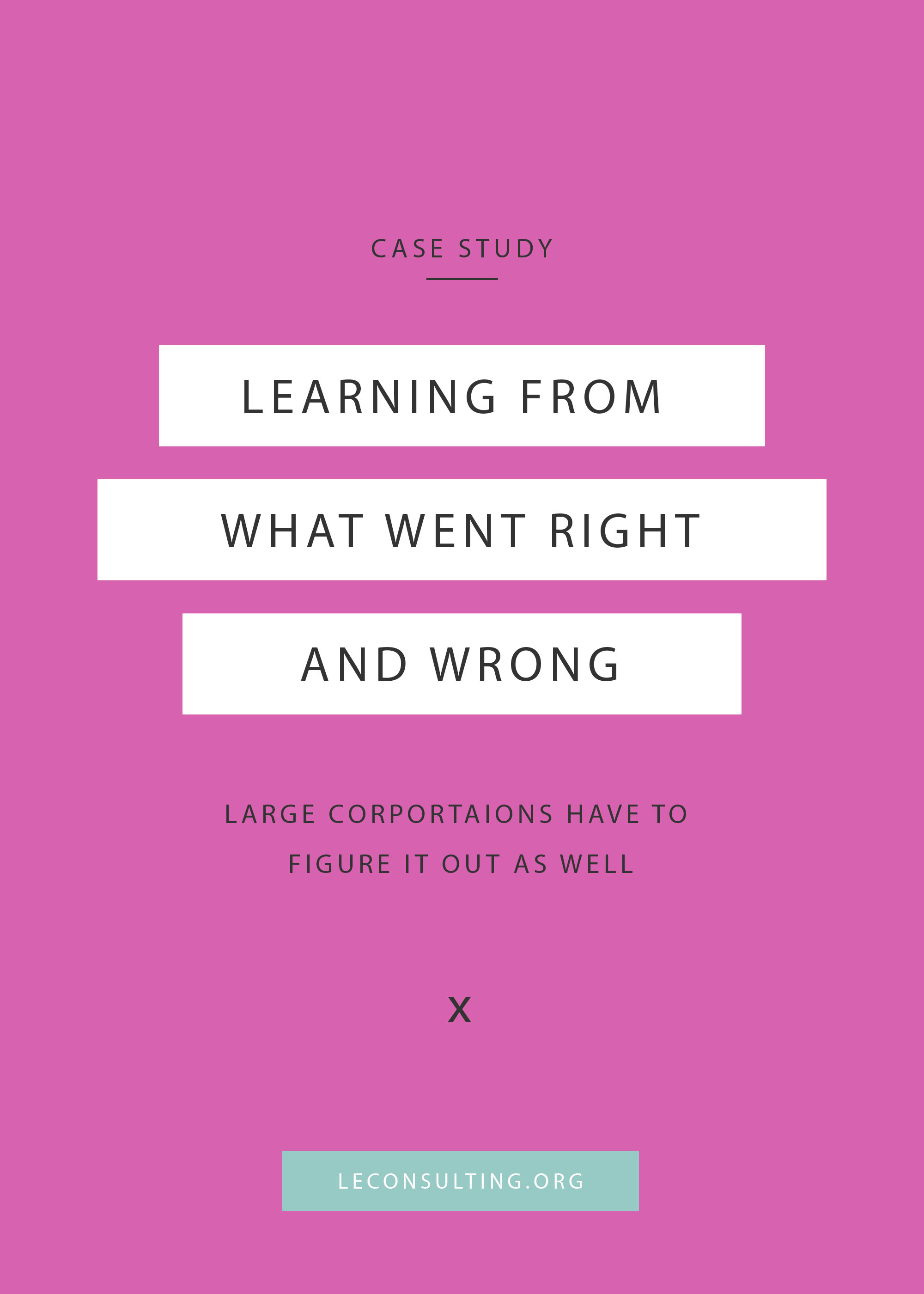 When we run our own creative businesses, we have to look at what went right, what went wrong and where we go from here. It's the same for large corporations too. Continue through to read the case study for Target's ad and take notes of what they did. | LE Consulting