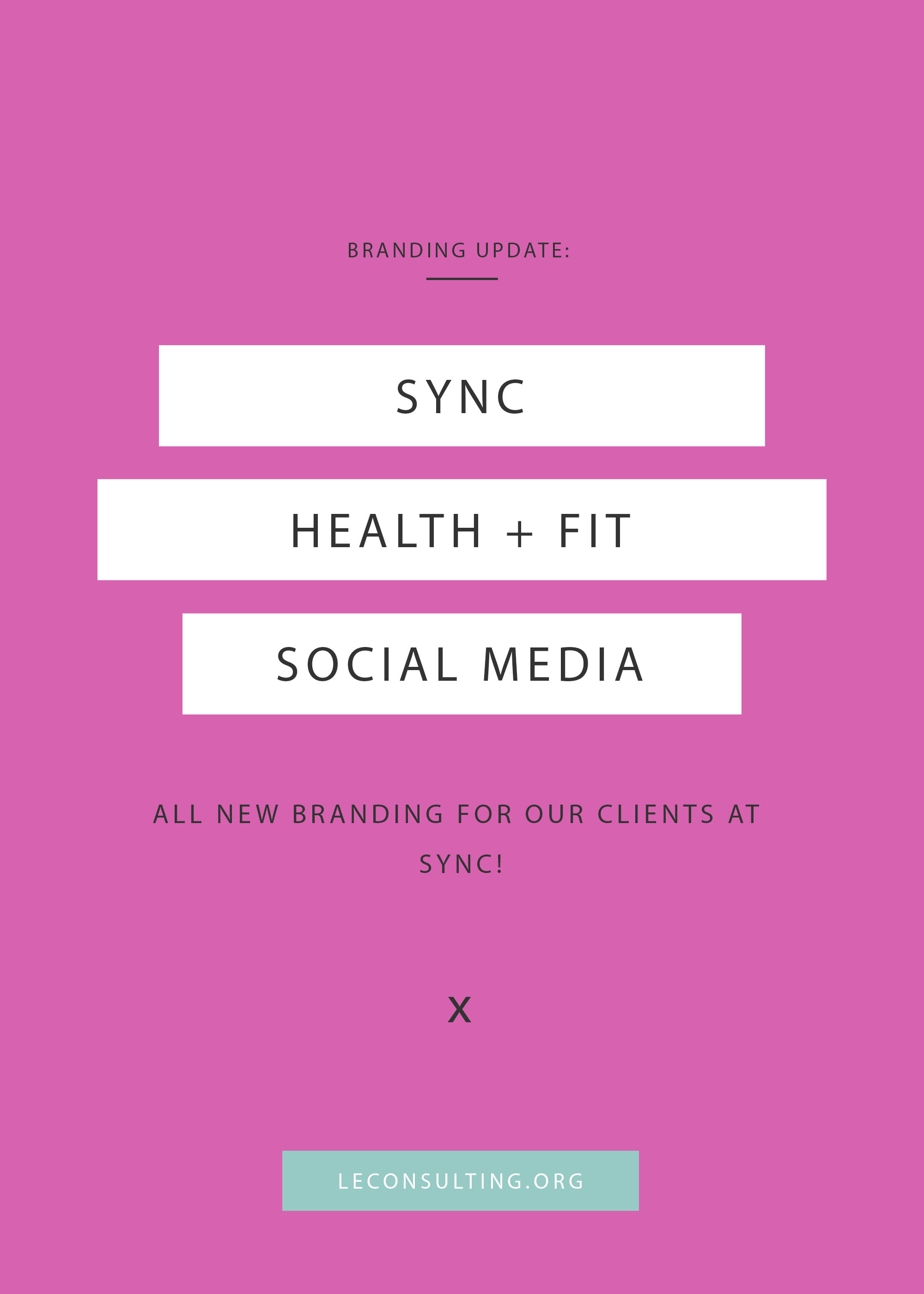 New Jersey based gym, SYNC, reached out to Le Consulting for updated social media graphics and branding. Click through to see the outcome of the revamp. If you need marketing assistance for your creative business, contact Le Consulting leconsulting.org. | LE Consulting