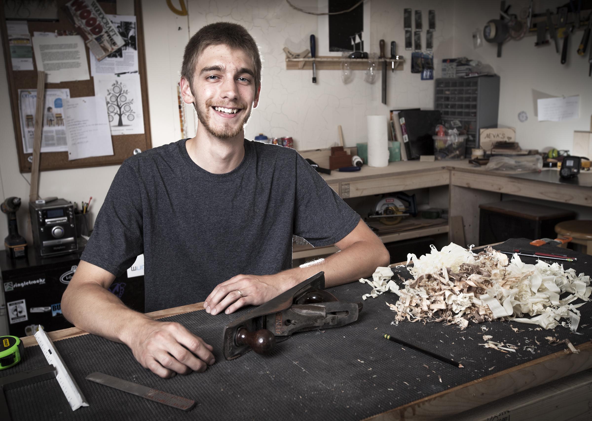 Environmental Portrait Photography of Tyler Beaudoin
