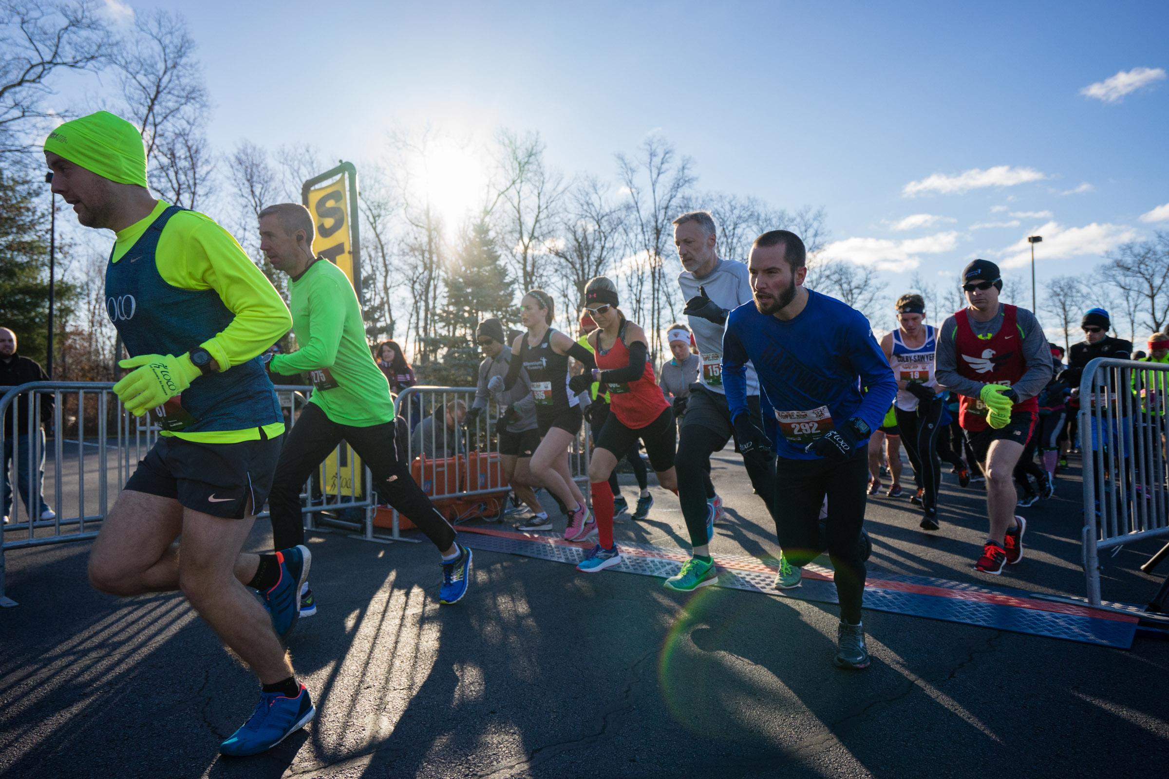 The start of the 2016 Jingle Bell Half Marathon