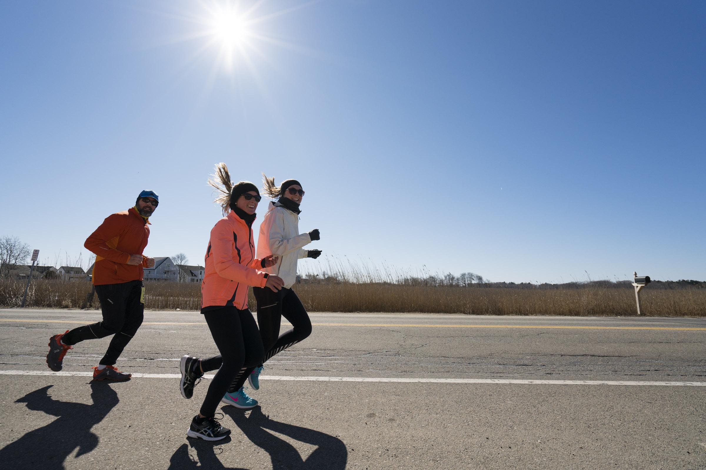 Runners near the Beach