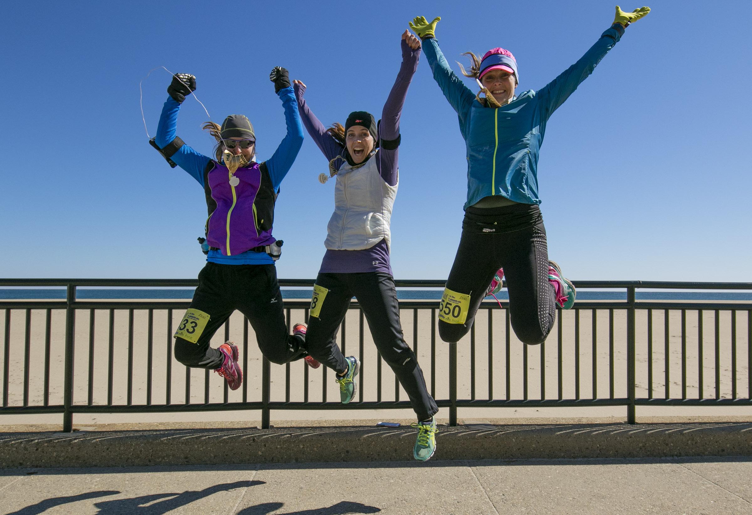 Jumping Runners at the Half at the Hamptons