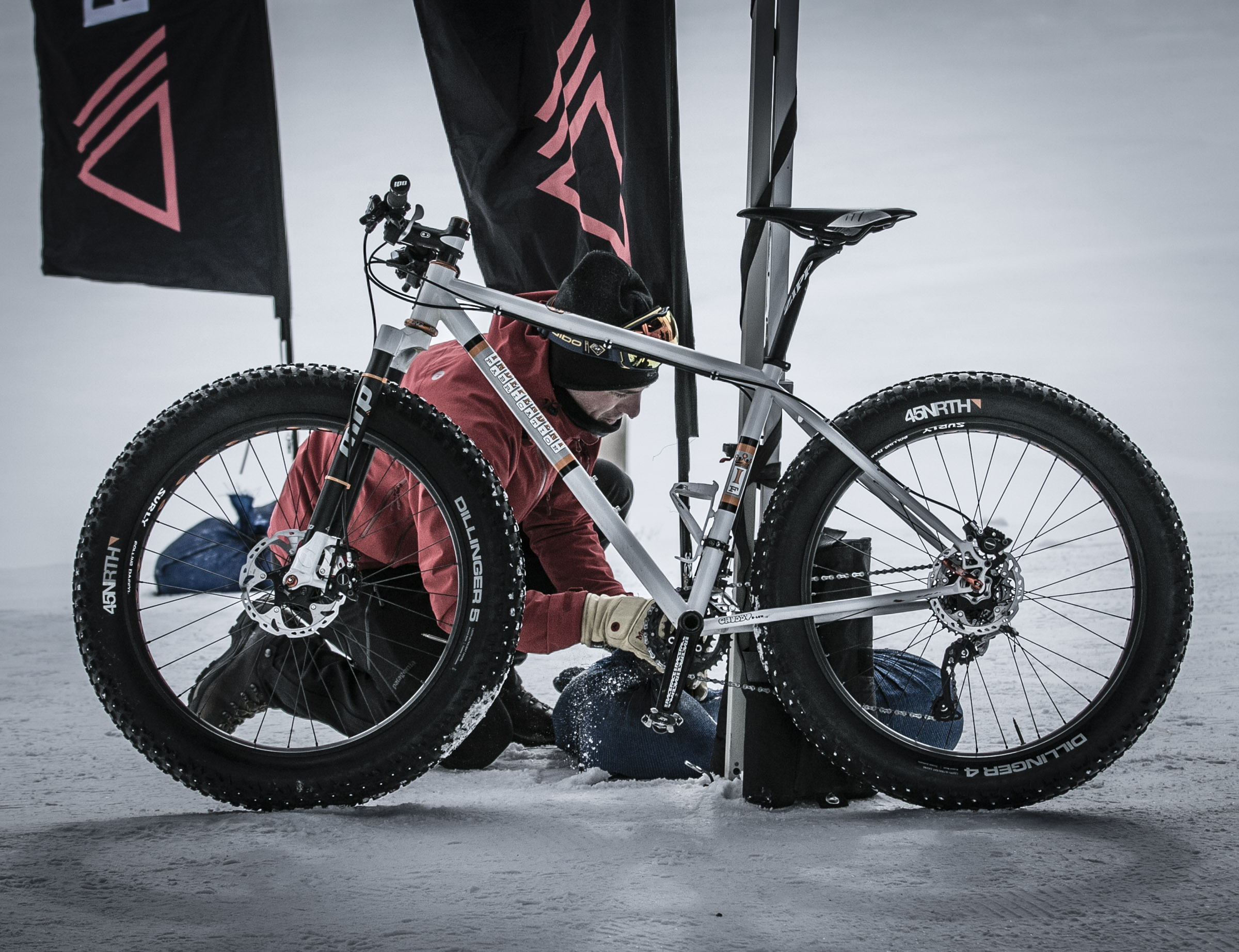 Dylan McNicholas Preps his Independent Fabrications Fat Bike