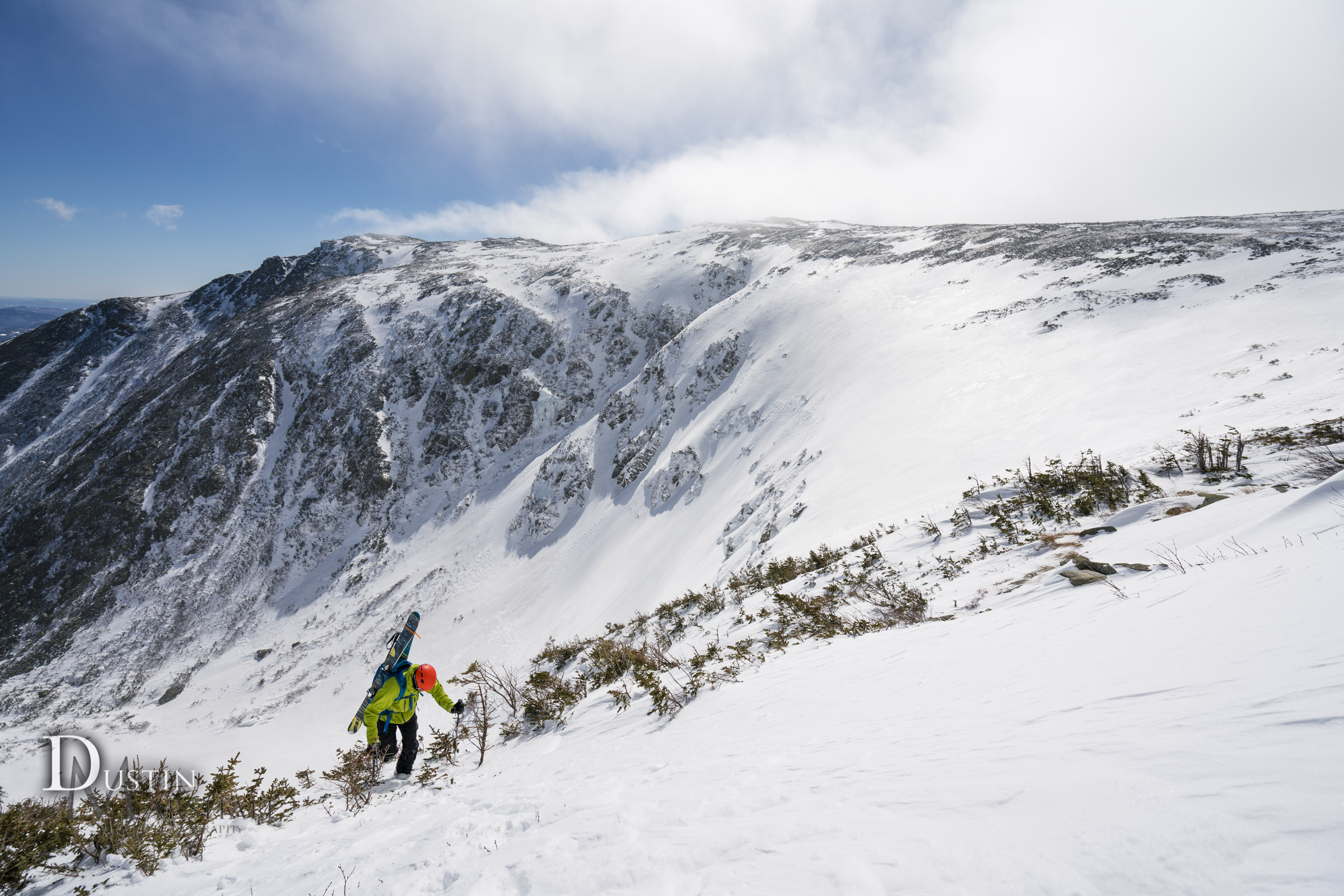 Topping out Sluice in Tuckerman Ravine