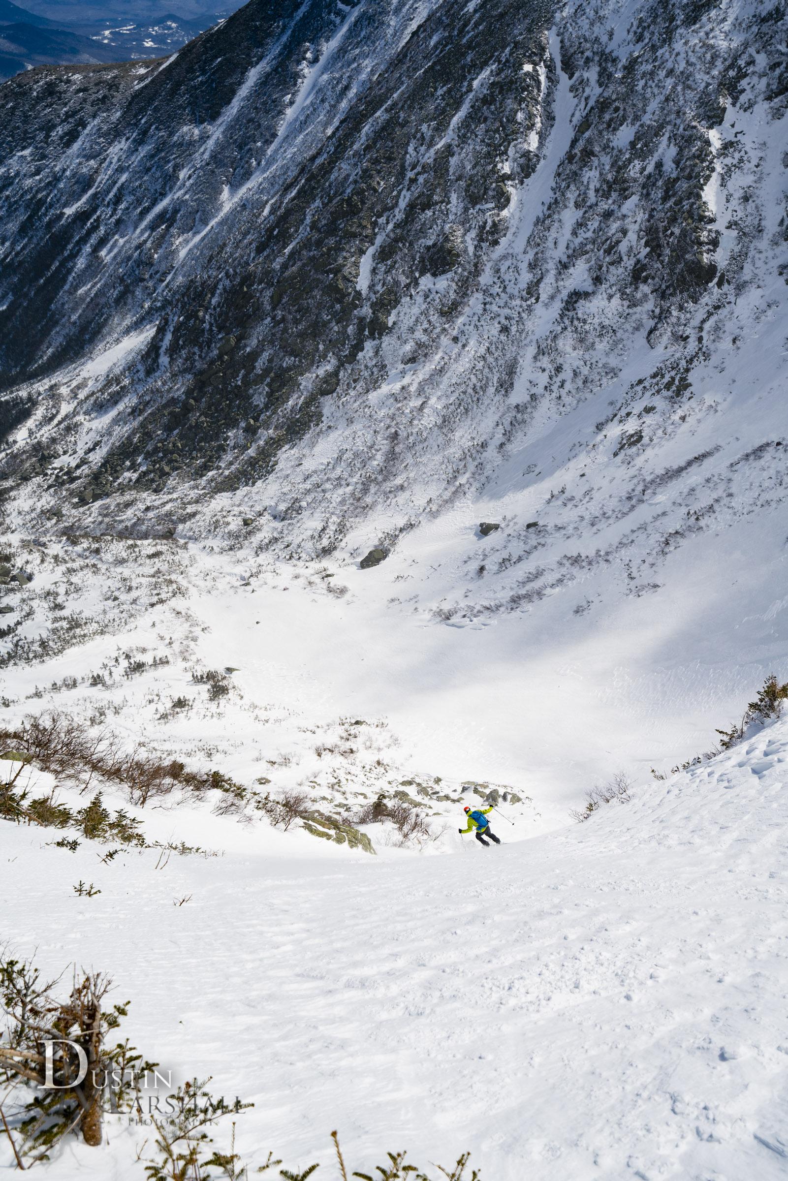 Ever feel small? Tuckerman Ravine skiing