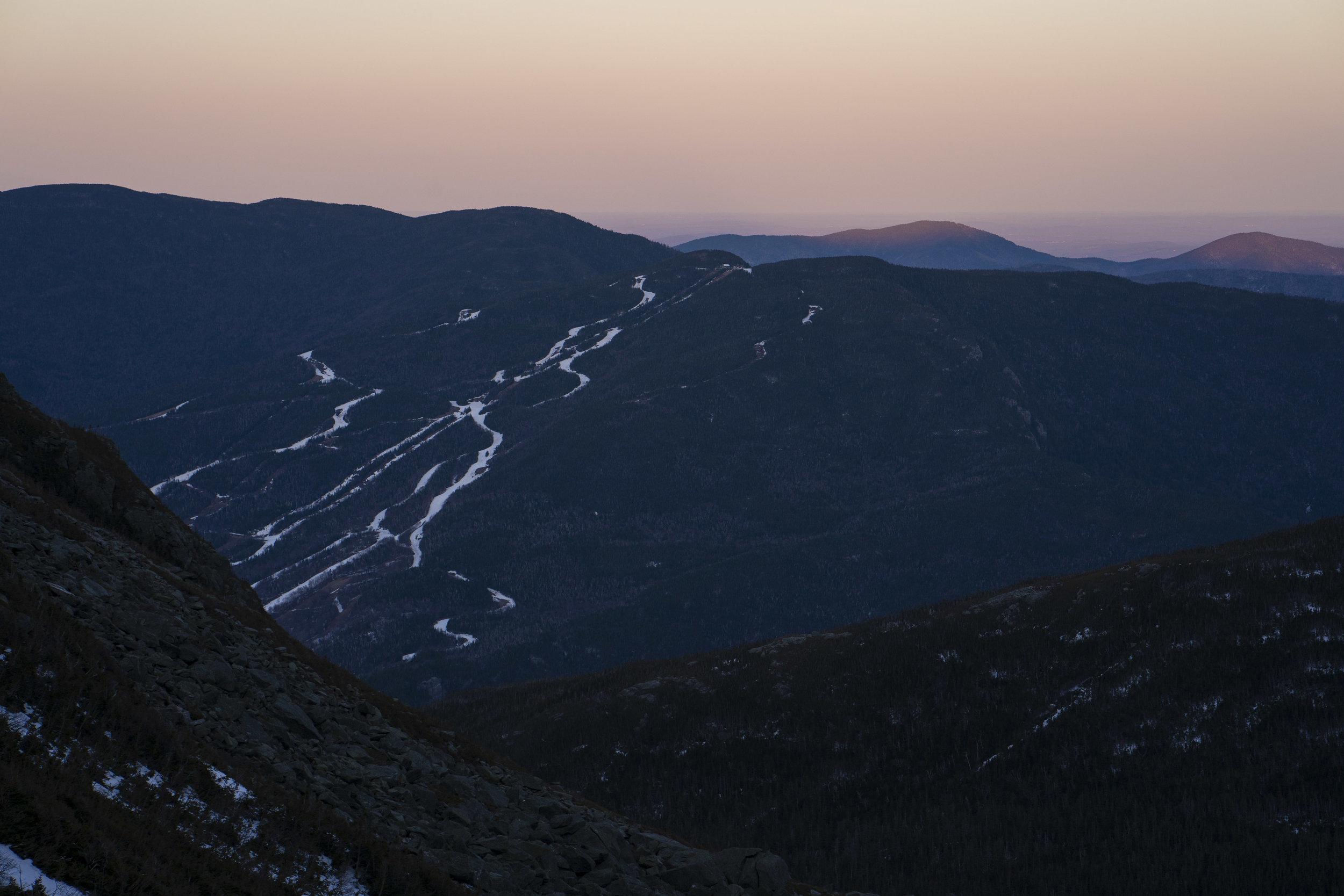 Wildcat Ski Area at Sunset