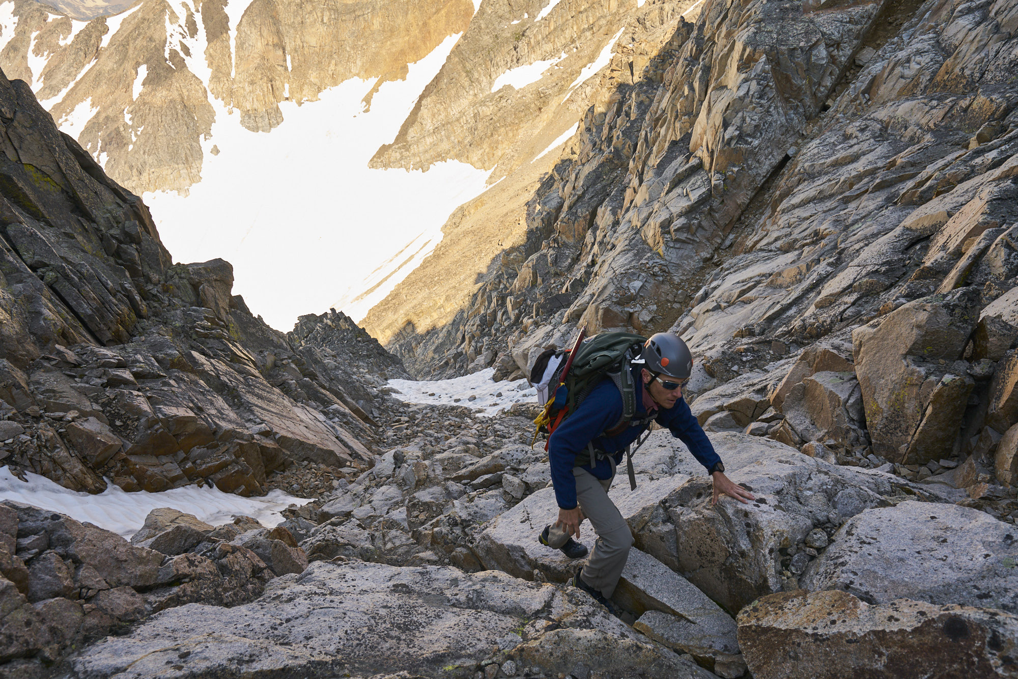 Adventure Photography of a climber on Granite Peak, Montana