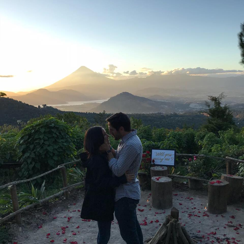 CONGRATS ALEX AND DANIELA! Also. Alex has agreed to do a workshop on how to propose to a woman at the 2018 CC Summit.  Nice move with the mountains and the sunset and the rose petals and the perfectly prepared camera opp bro!