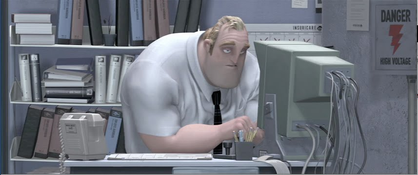 Bob Parr at the office, from  The Incredibles  (5:50)
