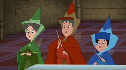 Fauna, Flora, and Merryweather, from  Sleeping Beauty  (21:20)