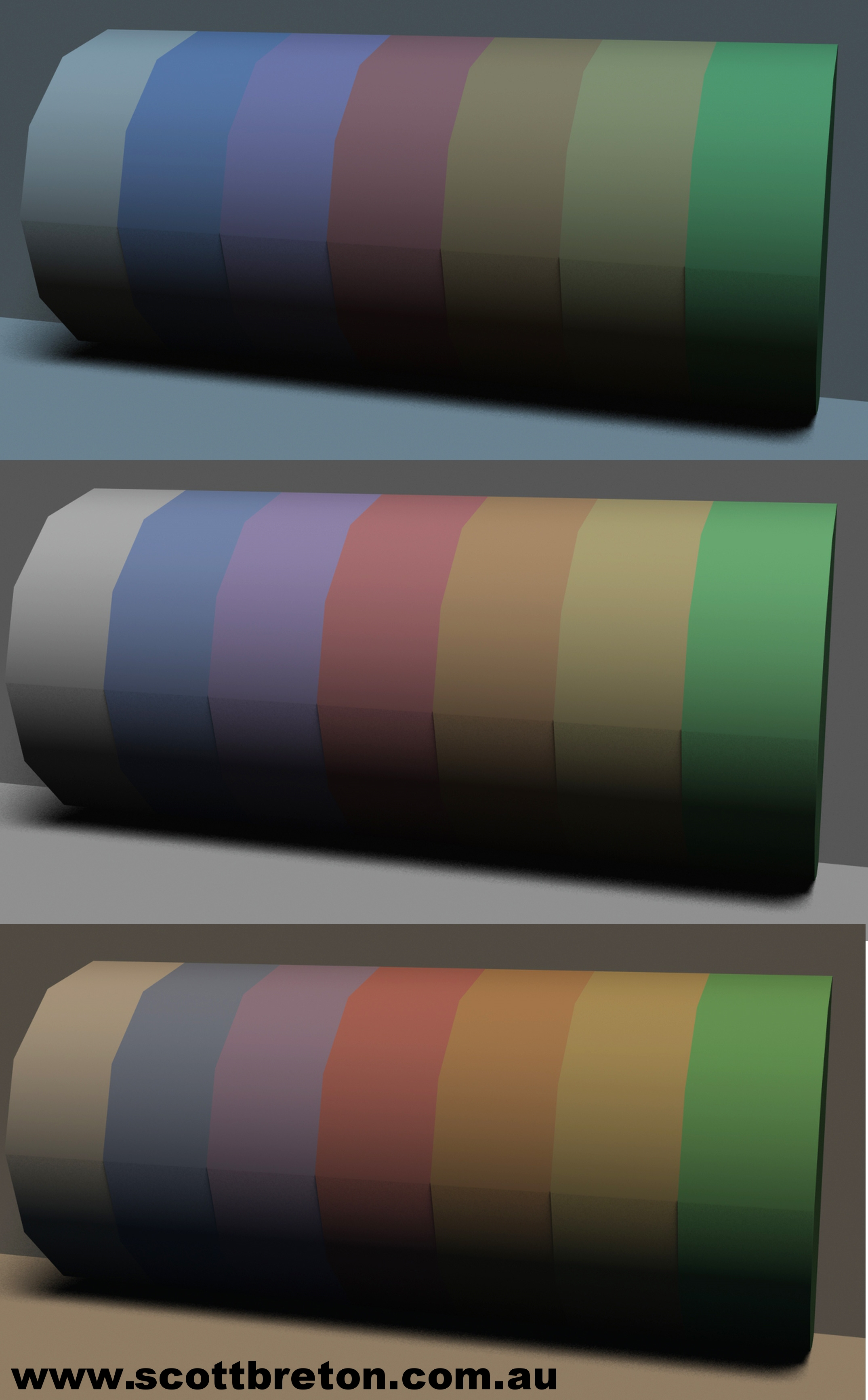 Diagram 6: Same object, light varies