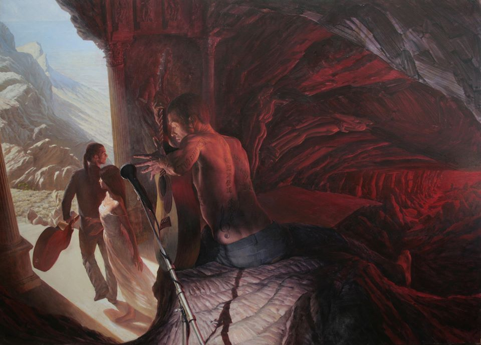 """""""Orpheus"""" Oil on Aluminium 87 x 117 cm"""
