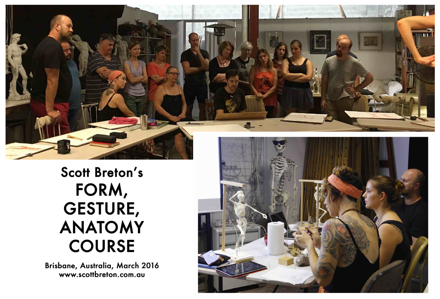 Shots from in the Form, Gesture, Anatomy Course from Brisbane, 2016