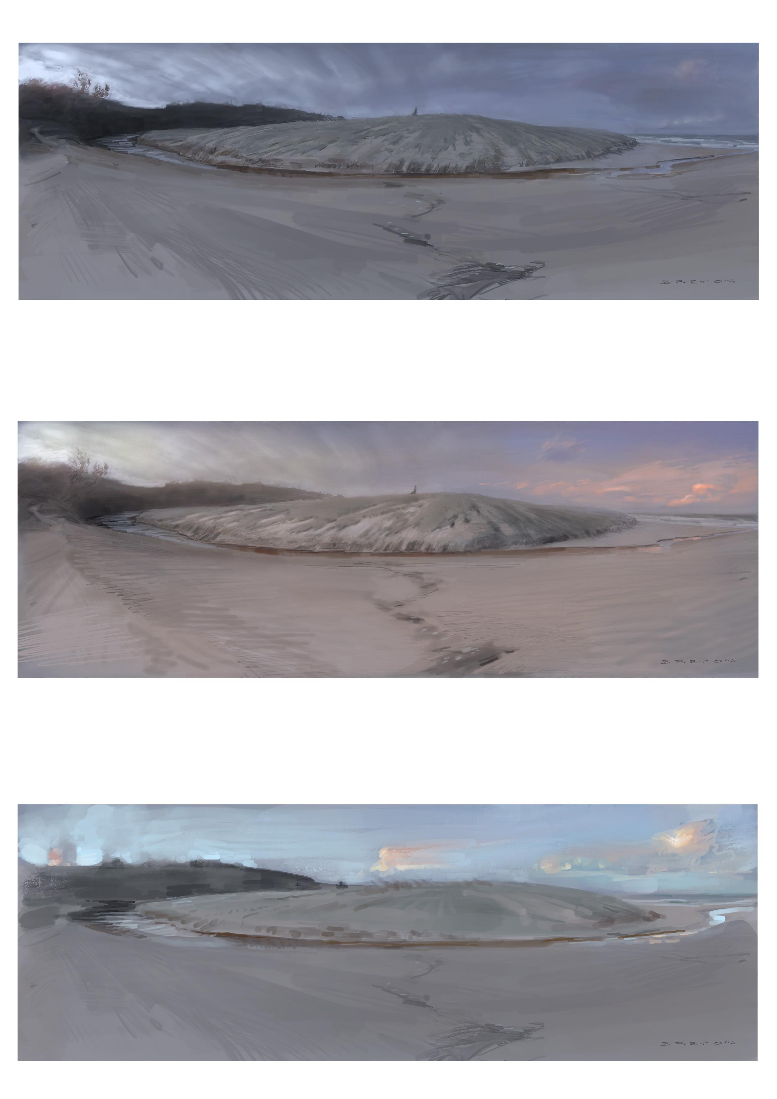 Light Fading (Digital Plein Air Studies)