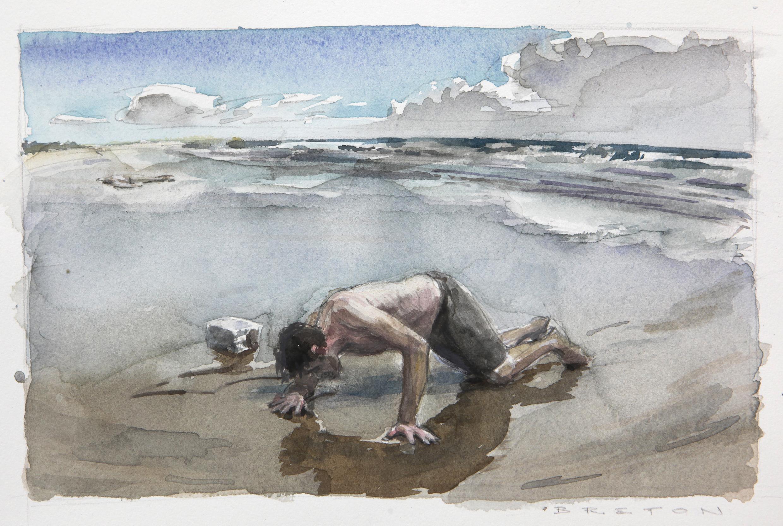 Composition Study for Shipwreck Survivor