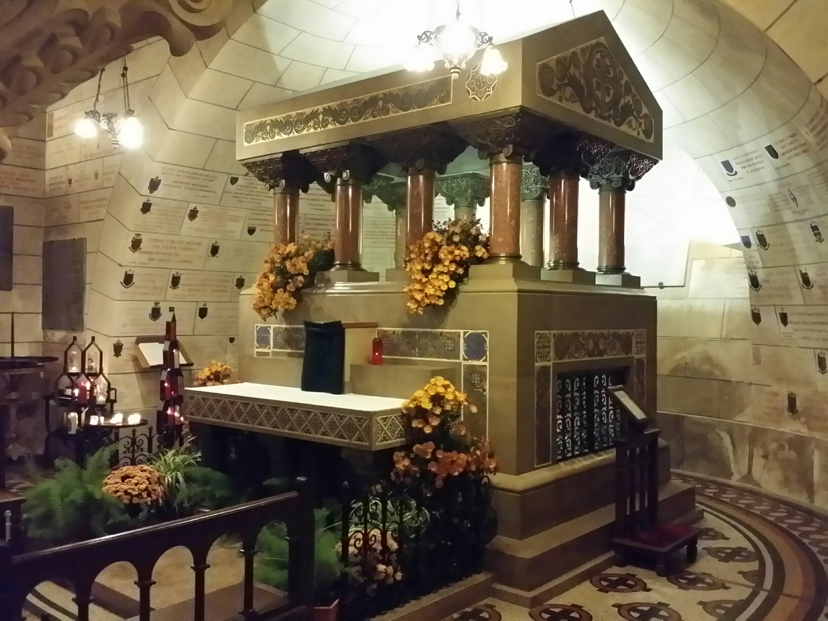 Tomb of Saint Martin in the crypt of the  Basilique St - Martin.