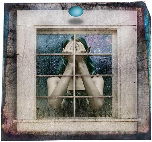 Girl Behind a Window