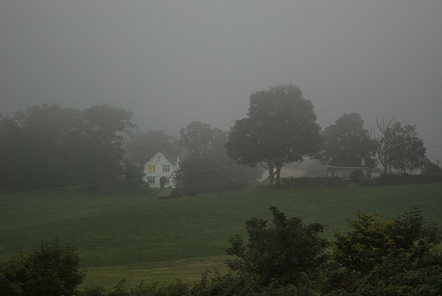 A White House in Fog