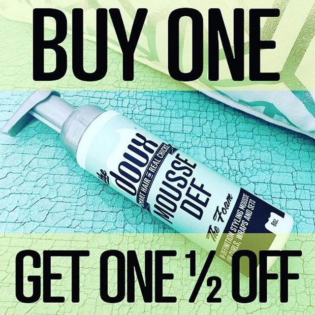 FLASH SALE At The Doux Salon Macon TODAY ONLY, from 8am-1pm. Also applies to refills :-) Stop on by and feed your MOUSSE DEF Addiction! While supplies last. #NATURALHAIRMACON#naturalhair#newdoux#norelaxer#noweave#airpress#silkpress#pressncurl#blowout#voiceofhair#hairchronicles#ilovethedoux#thedouxsalon#maconstylist#maconsalon#warnerrobinssalon#warnerrobinshair#downtownmacon#MACONhair#maconhair#airpress#blowout#blowoutbar#middlega#fvsu#mercer#warnerrobins#fortvalleyga