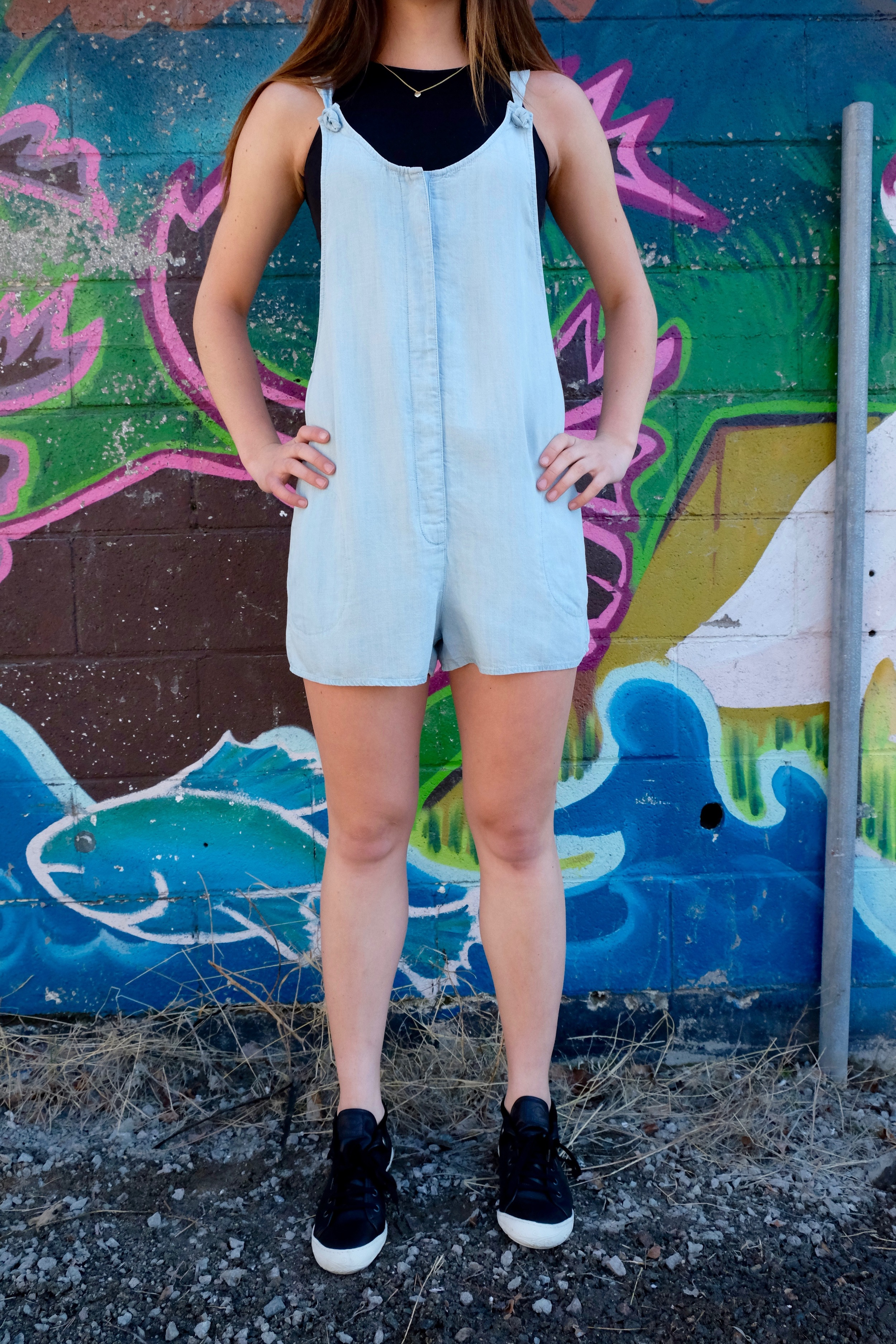 Gentle Fawn Hannah Tencel Denim Romper.