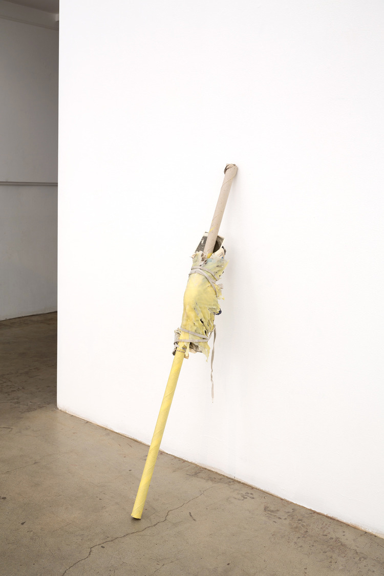 Installation view, Untitled (knee stick), 2013