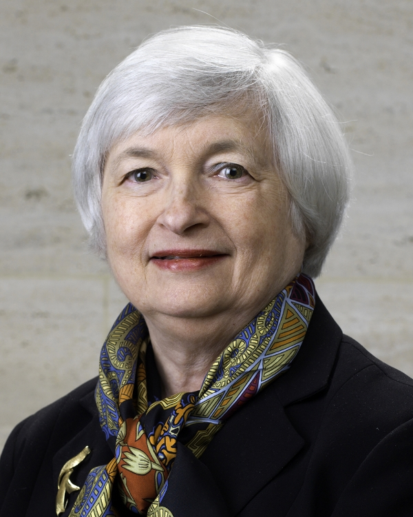 Janet Yellen,Chair of the Board of Governors of the Federal Reserve System.