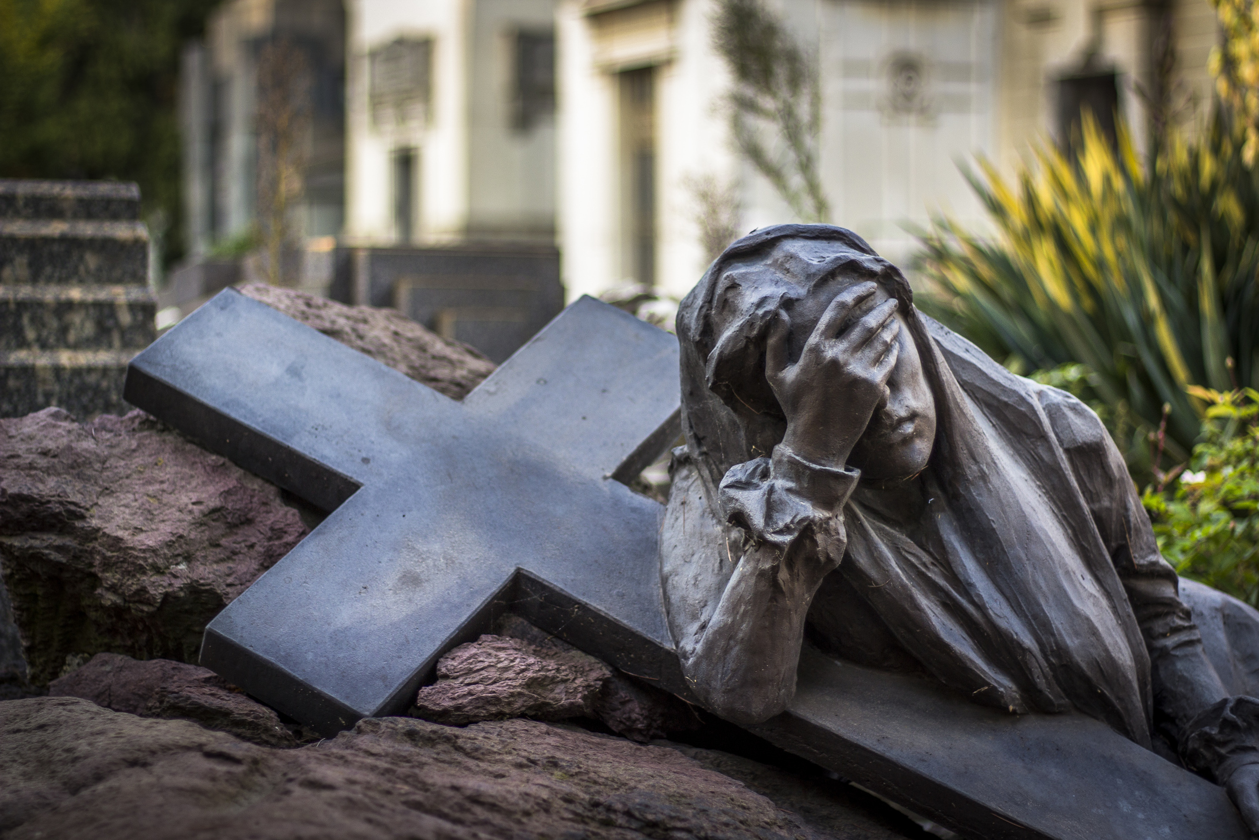 Woman and Cross