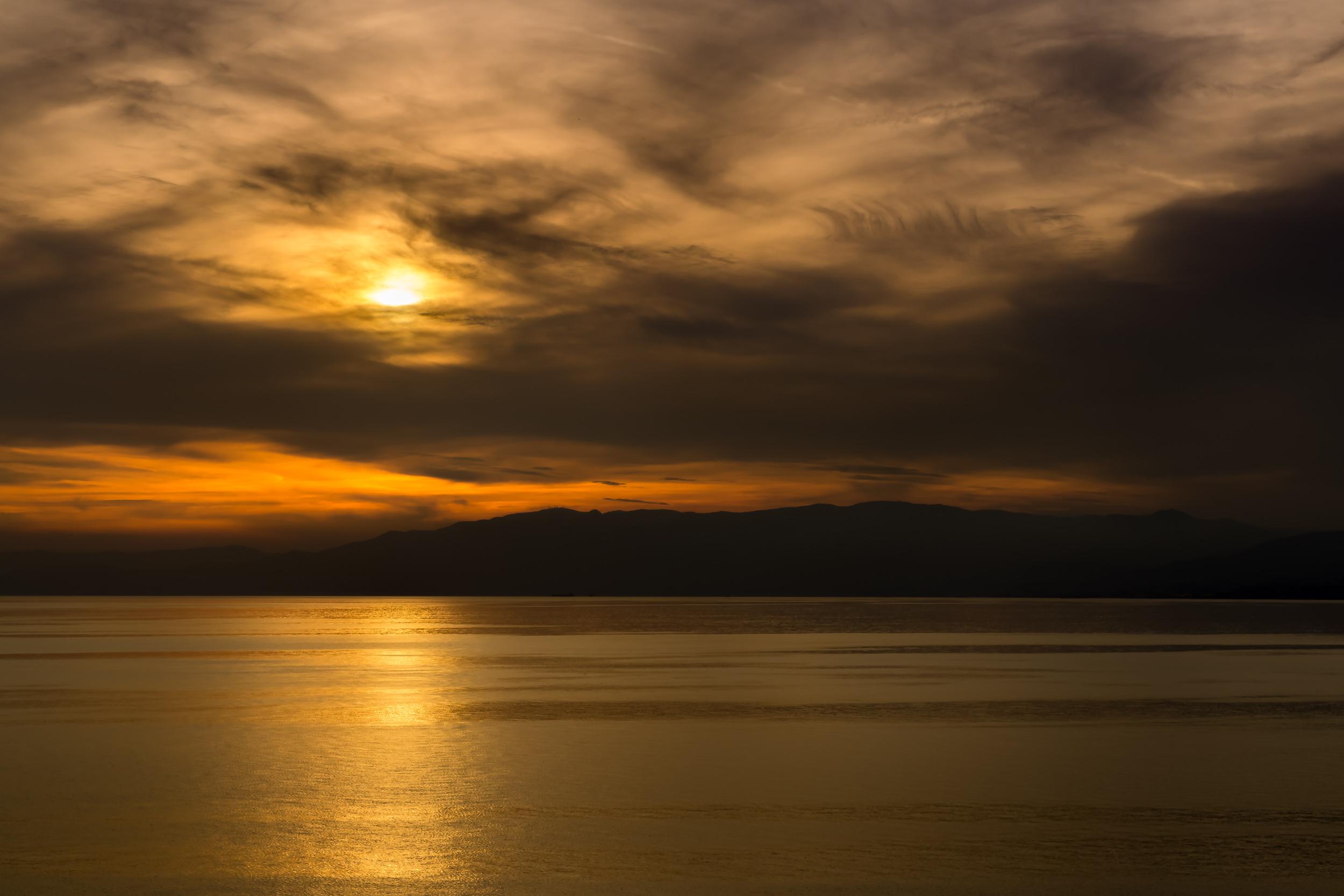 Sunset over Ligurian Alps