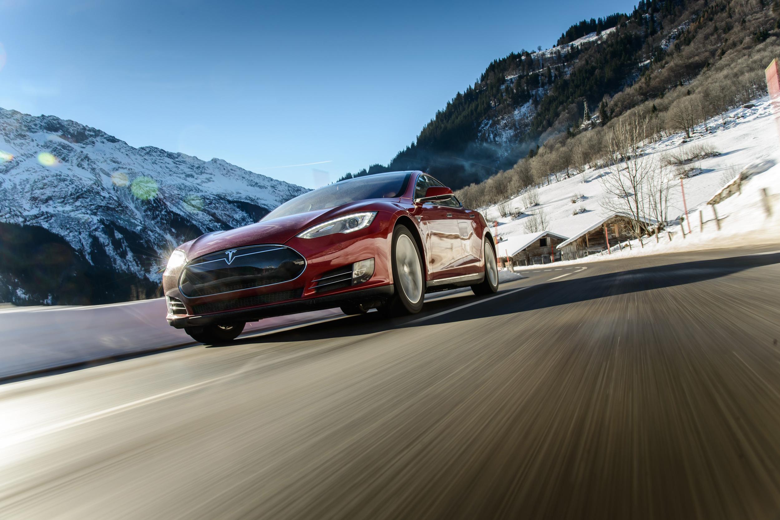 Tesla Motors is a front runner in autonomous driving.  Image courtesy of Tesla Motors .
