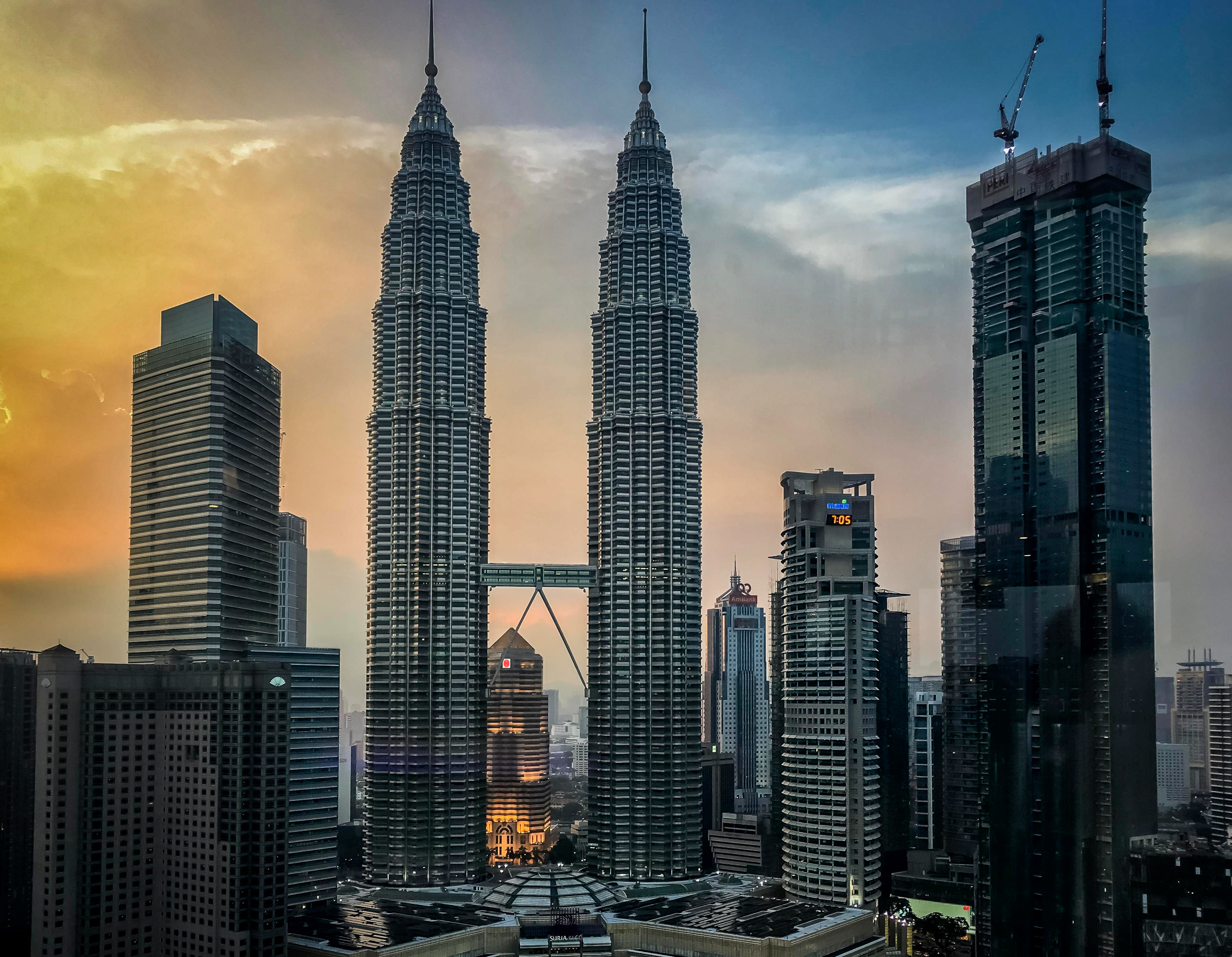 Petronas Twin Towers as seen from SkyBar at Traders Hotel