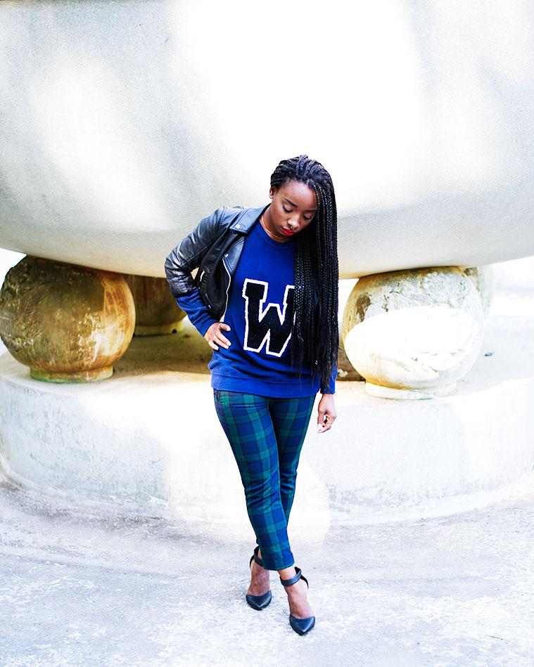 Tasha-James-The-Glossier-Fashion-Style-Beauty-Lifestyle-Blogger-DC-Arlington-Top-Streetstyle-Editorial-Box-Braids-Varsity-Letter-W-Tartan-Pants-Zara-Forever-21-HM-2.jpg