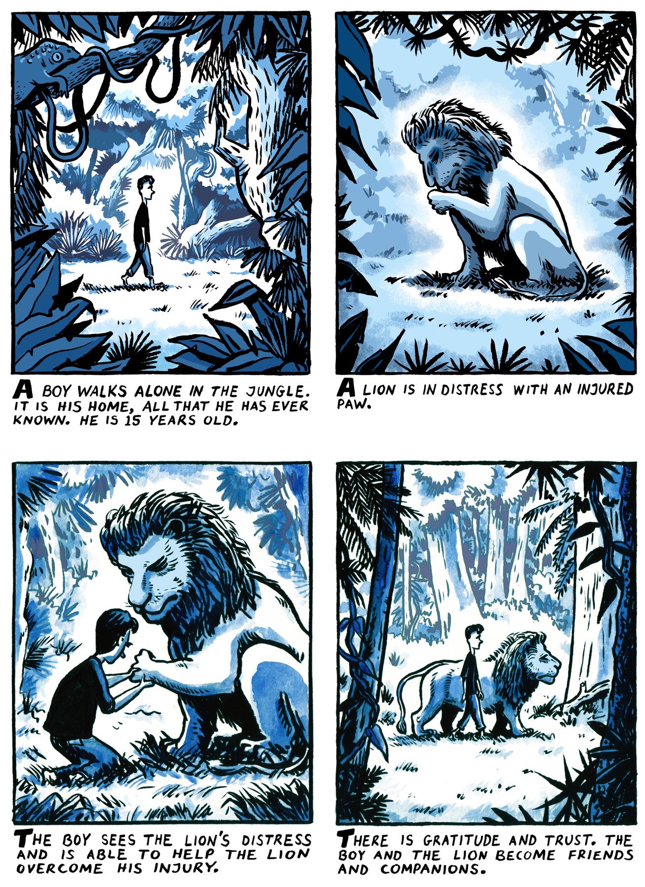 My Extraordinary Dream, panels 1-4.