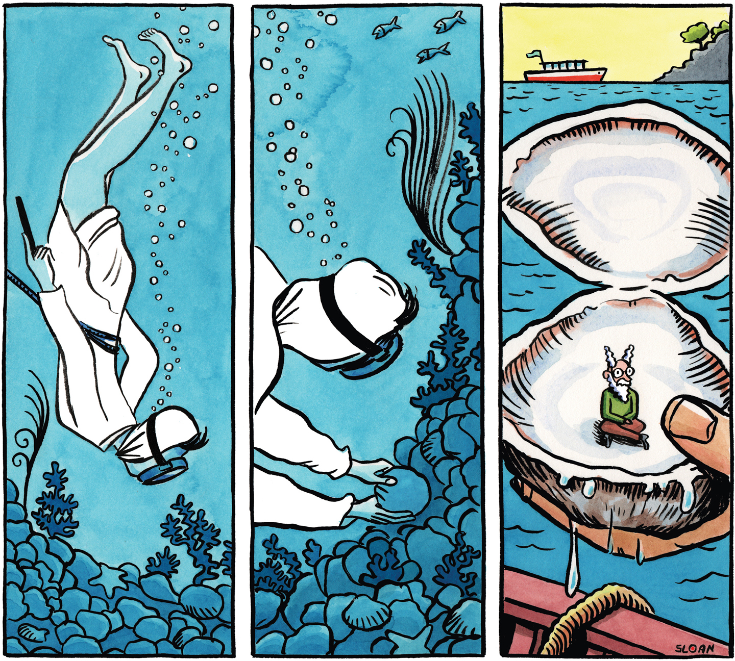 The pearl diver.