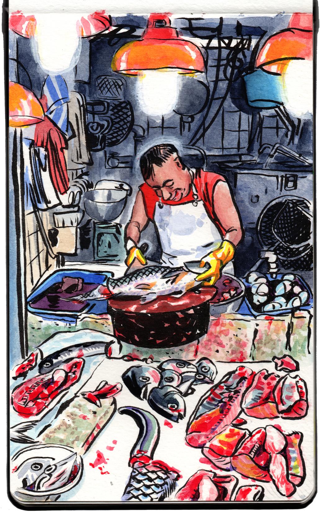 Fishmonger, Kowloon.