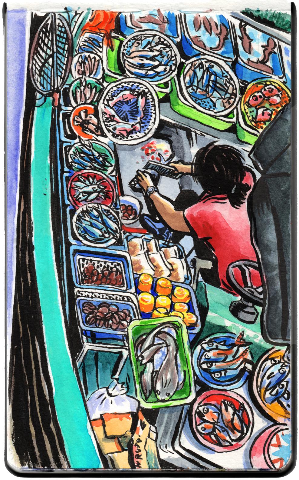 Fishmonger, Sai Kung.