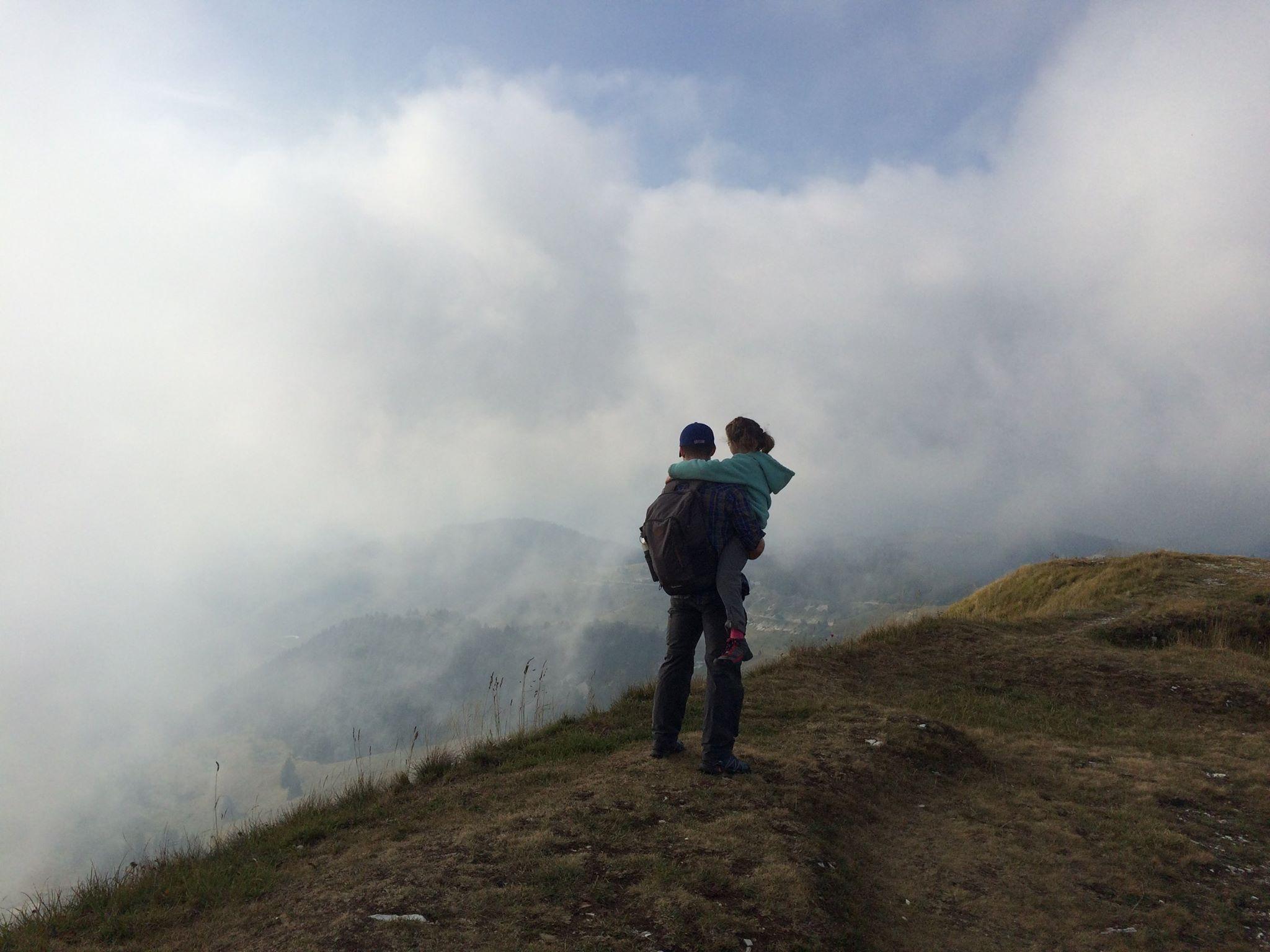 Monte Grappa hidden in fog