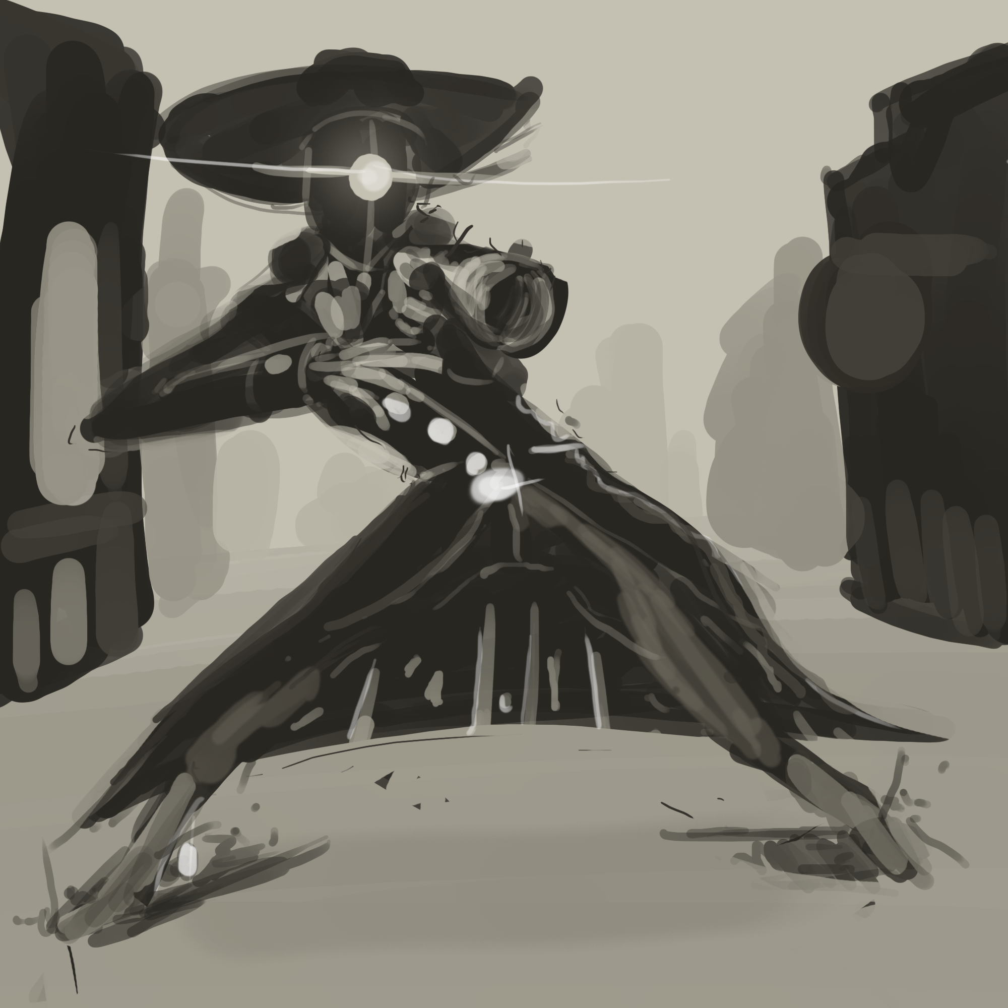 Concept art for the protagonist.