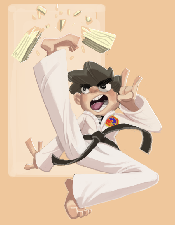 Karate Time, digital painting 2015