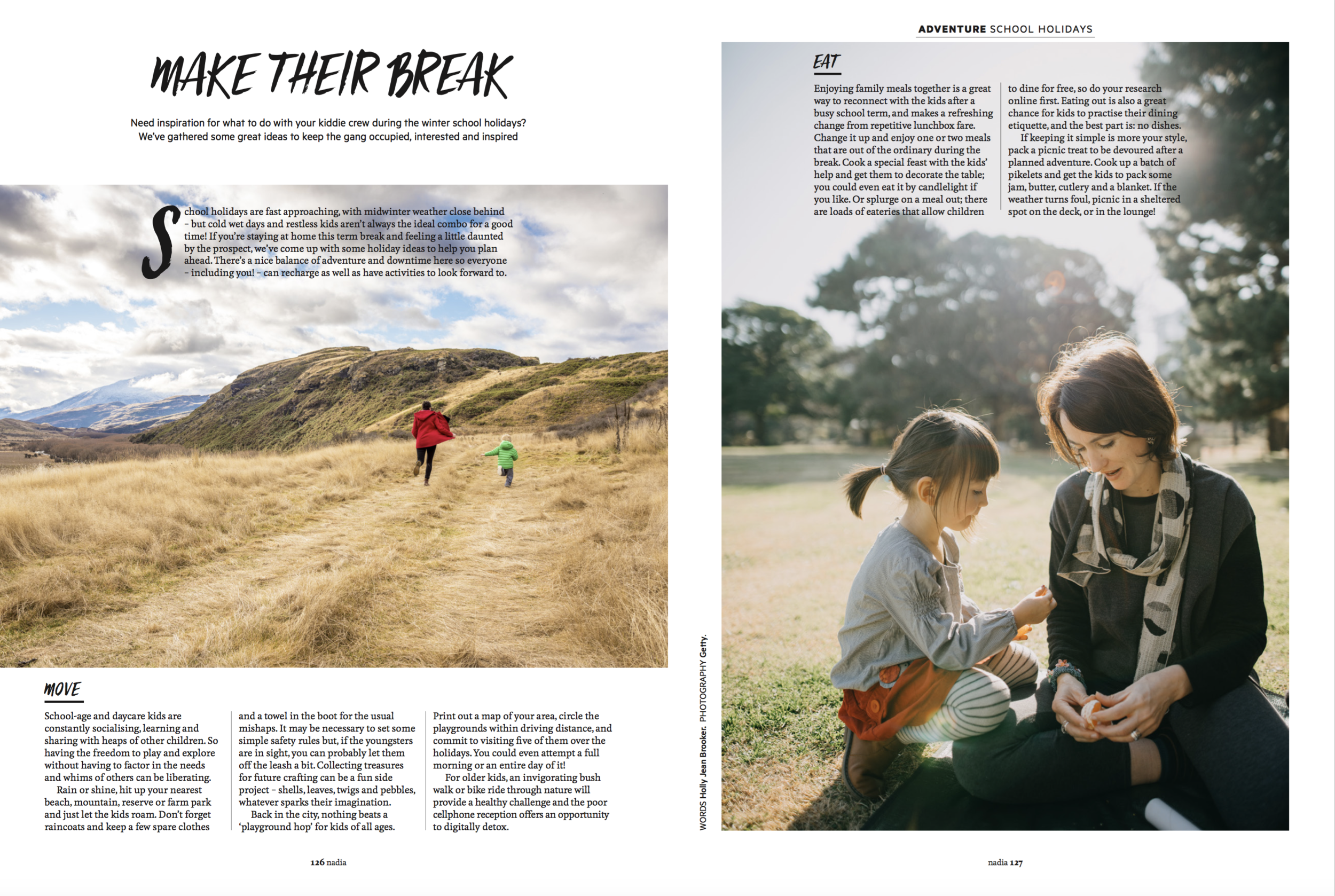 Nadia Magazine June/July 2018 - Inspo for the school holidays to keep the gang occupied, interested and inspired.Words by Holly Jean Brooker
