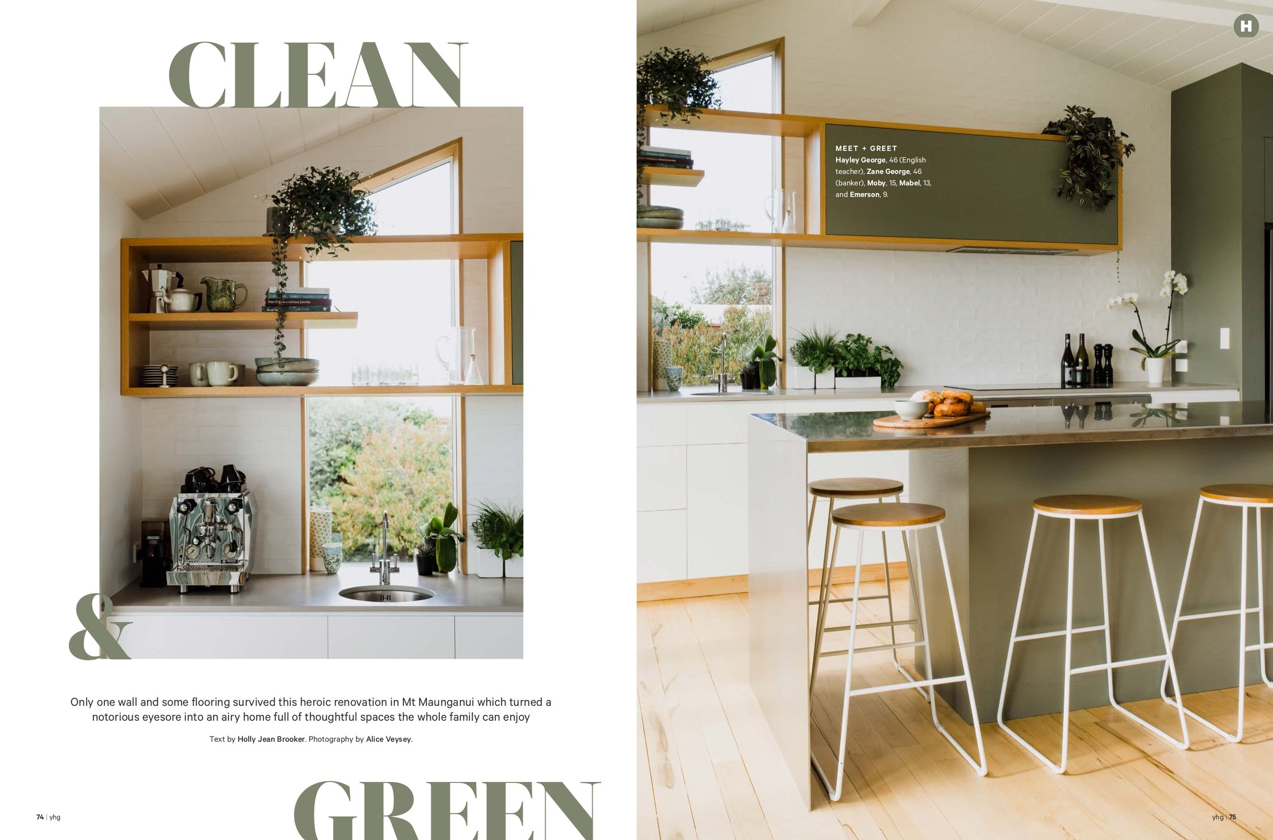Your Home & Garden 2019 - The George family bought their home at the Mount after one 15 minute visit! Only one wall and some flooring survived this heroic renovation in Mt Maunganui, which turned a notorious eyesore into an airy home full of thoughtful spaces the whole family can enjoy.Words by Holly Jean BrookerPhotography by Alice Veysey