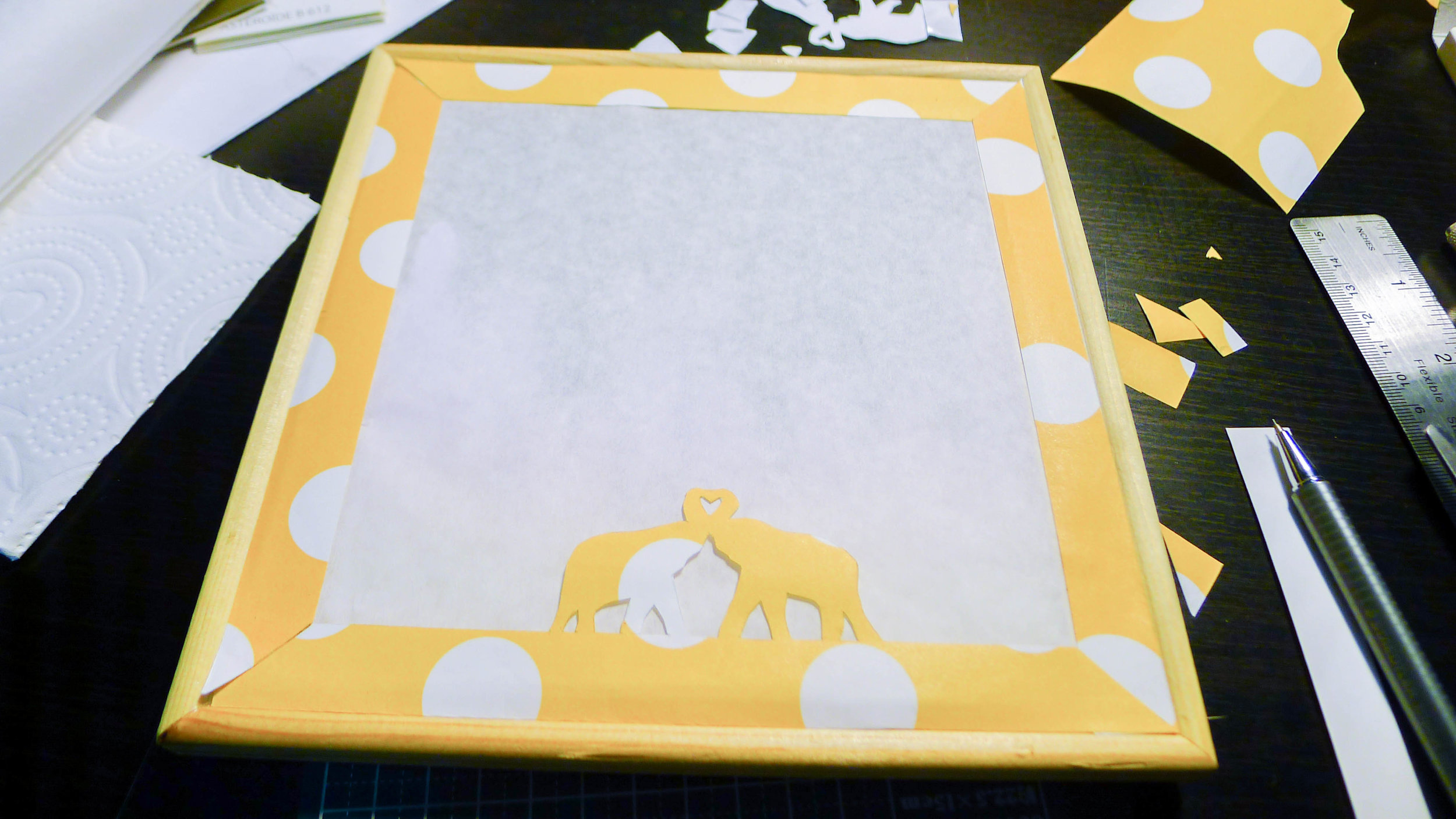2017_DIY Lightbox_Front Layer and Elephant Frame Completed.jpg