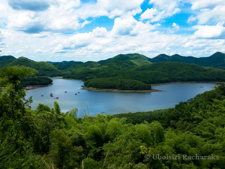 View of Huai Krathing Reservoir