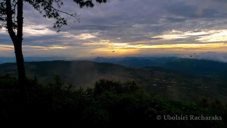 Sunrise over Valley at Phu Ruea